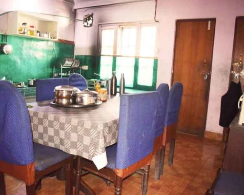 Hygienic dining table- RadhaKrishna girls and boys hostel
