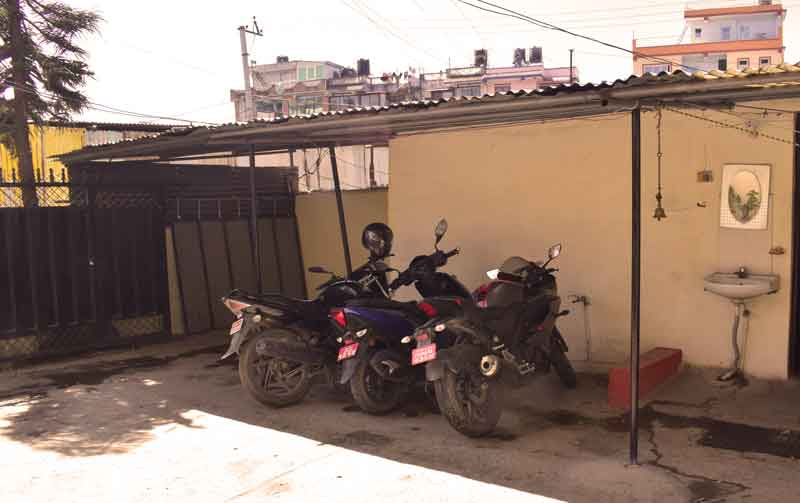 Parking area- RadhaKrishna girls and boys hostel